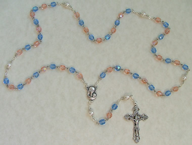Pink and Blue Pro Life Rosary